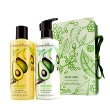 Crabtree & Evelyn Crabtree & Evelyn Avocado, Olive & Basil Perfect Pair: Bath & Shower Gel 250Ml + Body Lotion ...