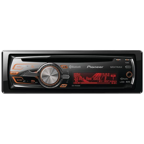 Pioneer Deh-P8400bh Single-Din In-Dash Cd Receiver With Bluetooth(R), Hd Radio(Tm) & Mixtrax(R) 10.20In. X 9.60In. X 4.40In.