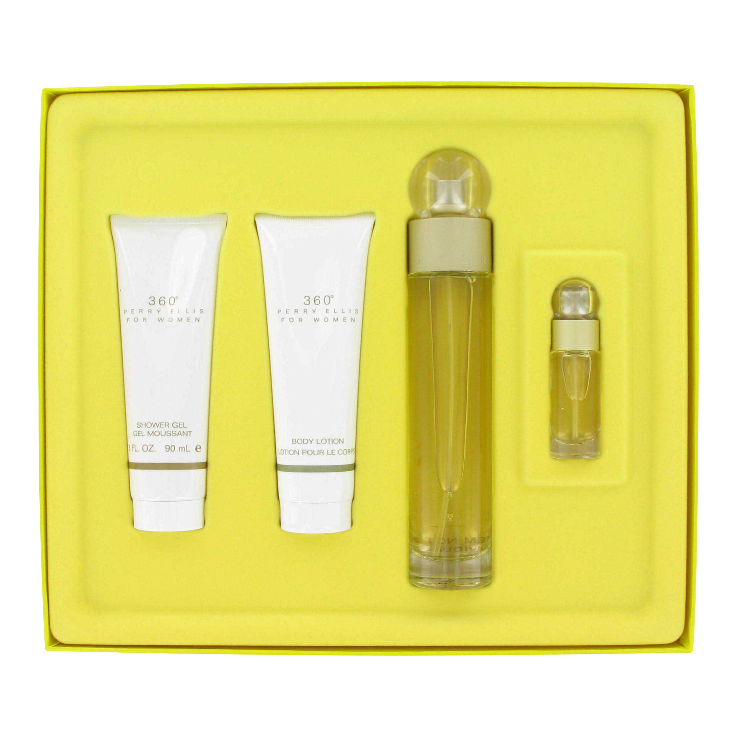 Perry Ellis 360 By Perry Ellis For Women Gift Set -- 3.4 Oz Eau De Toilette Spray + 3 Oz Shower Gel + 3 Oz Body Lotion + .25 Oz at Sears.com